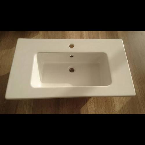 Lavabo in ceramica  FLAT 101  profondità 46