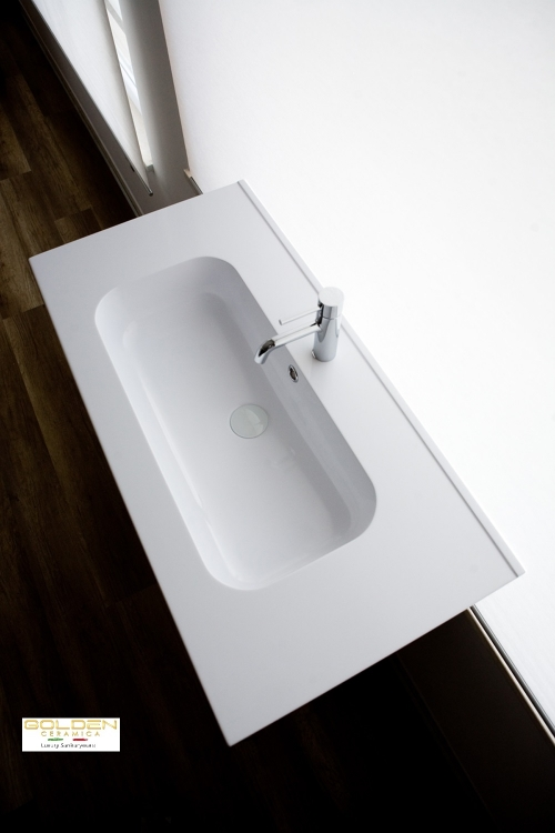 lavabo in teck-stone  IDEA 60 prof 46