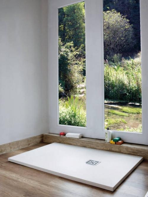 Piatto doccia in teck-stone (resina) cm 70x140 x h3