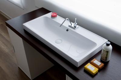 lavabo in teck-stone 80x40