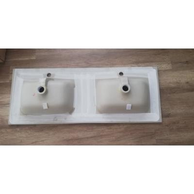 Lavabo in ceramica  ANDY 120 doppia vasca profondità 46