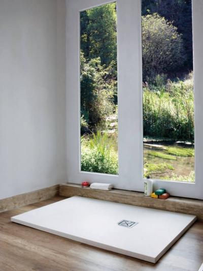 Piatto doccia in teck-stone (resina) cm 70x80  x h3
