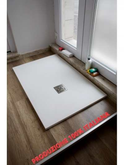 Piatto doccia in teck-stone (resina) cm 80x110  x h3