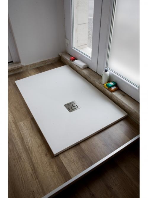 Piatto doccia in teck-stone (resina) cm 70x160  x h3
